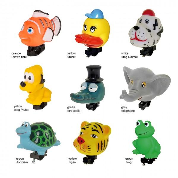 07410 Kinderhupen, Tierfiguren wie Elefant, Tiger, Ente, Clownfisch, Krokodil, etc.