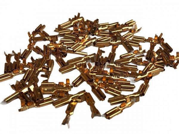 01910 Flachstecker Kabelschuh, 3.0 x 0.5 mm, 100er VE, Kupfer-BRONZE