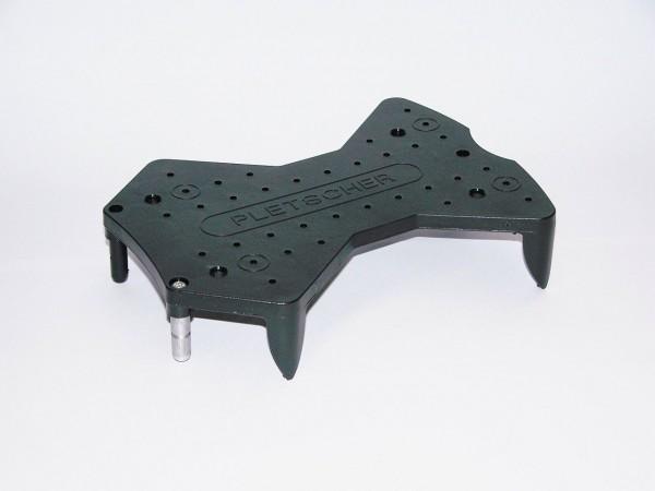 06342 3-Punkt-Kunststoffadapter, Pletscher, schwarz