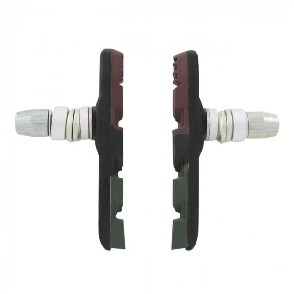 03392 Bremsschuhe, 70 mm, V-Brake, 3-farbig, paarweise