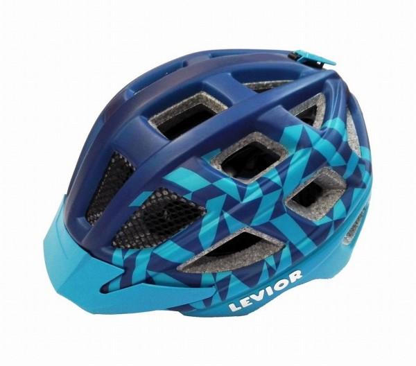 33932 Kinder Jugend Fahrradhelm Kailu, Größe M (53-59 cm), Reflektor, Quicksafe, Visier, blue matt