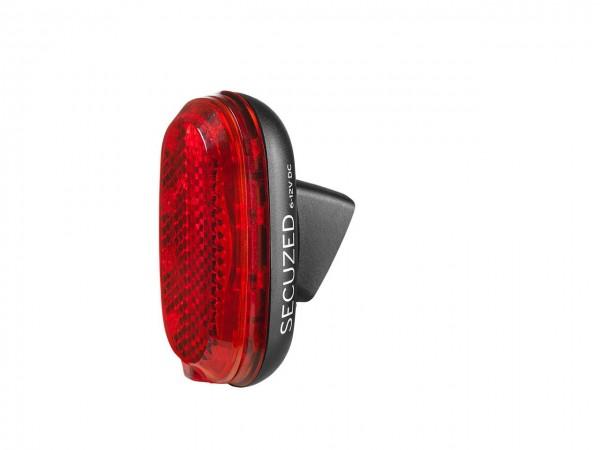 51325 LED Rücklicht Secuzed E = E-Bike, 10 Led`s, Schutzblech & Sattelstützenmontage
