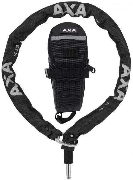 25382 AXA Einsteckkette RLC100, (5.5 x 5.5 mm) x 1000 mm, Plug Ø10 mm, inkl. Outdoor-Tasche, schwarz