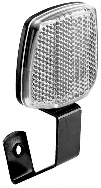 01505 Front-Reflektor, weiß, Befestigung auf Bremsbolzen, Winkel verstellbar
