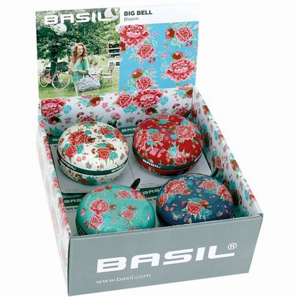 07438 Big-Bell Glocke, Basil Bloom, 4er-Sortiment, Ø 80 mm, farbig sortiert