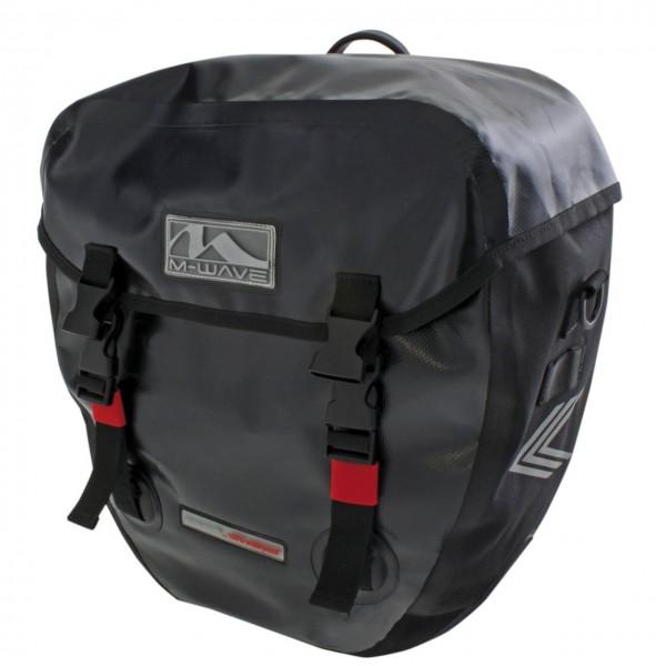 13288 Gepäckträgertaschen, Alberta, 2 x 20 L, Rixen & Kaul Halter, wasserdicht, schwarz
