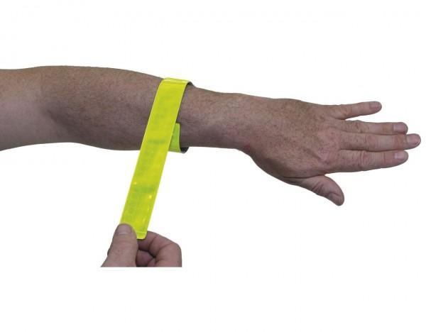 01718 Reflektorband, selbstaufrollend, Länge 43 cm, Paar, neongelb, 2-Stück auf Karte