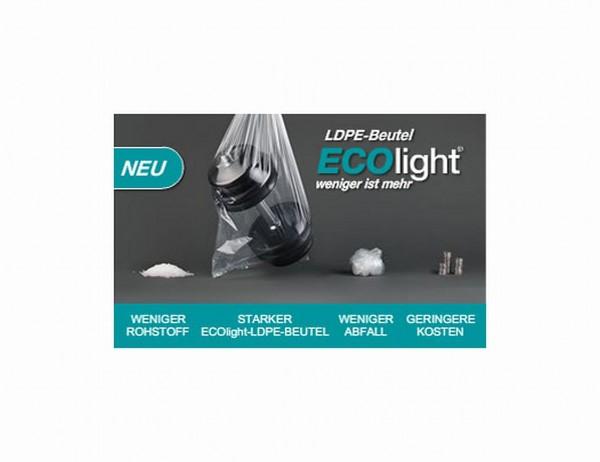 LDPE-Peutel/ PE-Flachbeutel, transparent, VE = 25 Stück, 50 my (50µ), 400 x 600 mm