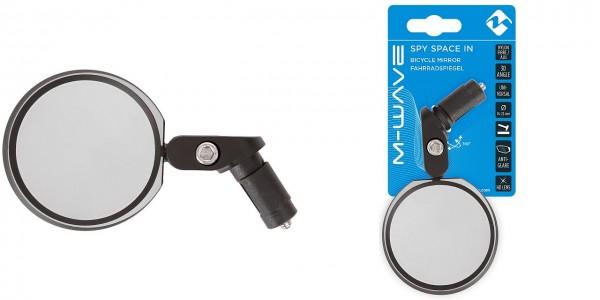 16679 Fahrradspiegel Spy Space In, verstellbar, blendefrei, Innenklemmung, schwarz