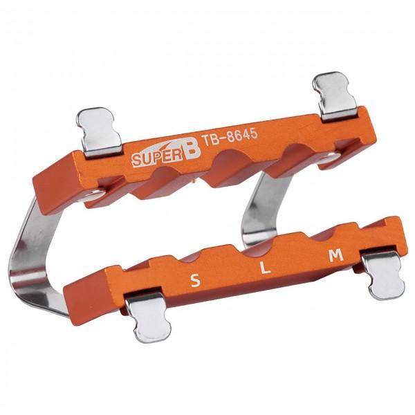 32570 Schraubstockeinsatz für Achsen, Ø 9, 10 und 12 mm, Aluminium, orange-silber