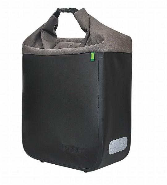 13622 Seitentasche Donna, Rolltasche, Wasserfest, 15 Liter, onyx-schwarz/ grau, ebike ready