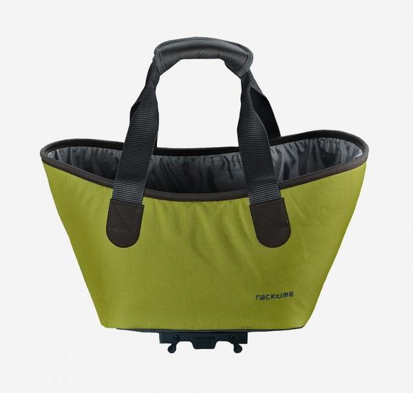 13428 Agnetha Fahrradtasche, Racktime, Snap-It, 34 × 25,5 × 37 cm, 15 Liter, Lime Green