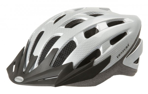 33849 Fahrradhelm, M = 54-58 cm, Jugend-, Semi-In-Mould, weiß-carbon