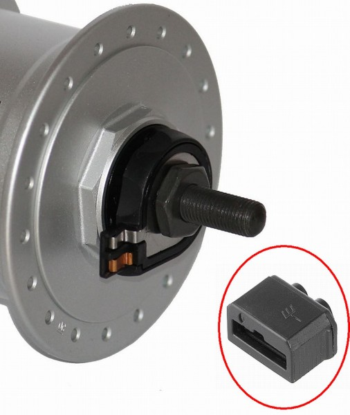 01906 Verbindungs-Stecker, passend für Nabendynamos wie Shimano, Novatec, Sram etc