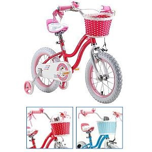 "14"" Kinderfahrrad STAR GIRL, Royal-Baby, Variante FREILAUF/ Felgenbremse, in rosa oder blau"