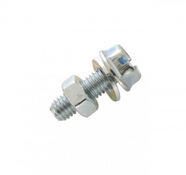 26106 Schutzblechschraube/ Sechskantschraube, Fix Nippel, glanzverzinkt, M 5 x 15 mm