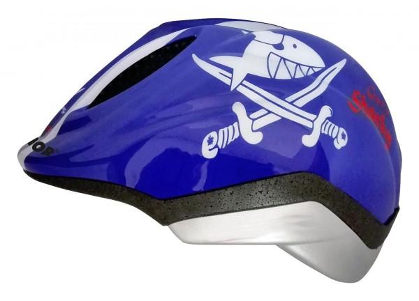 33916 Kinder Fahrradhelm Sharky, Primo, Größe S (48-51 cm), Reflektor, Quicksafe, MaxShell, blue