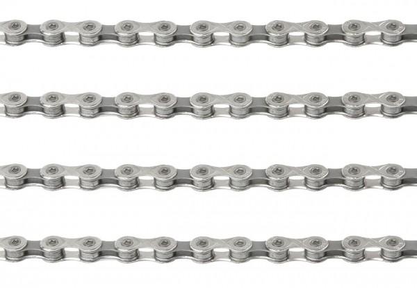 """10144 Fahrradkette X9 grey-silver, 1/2"""" x 11/128"""", 116 Glieder, + Missing Link, grau-silber, WVP"""