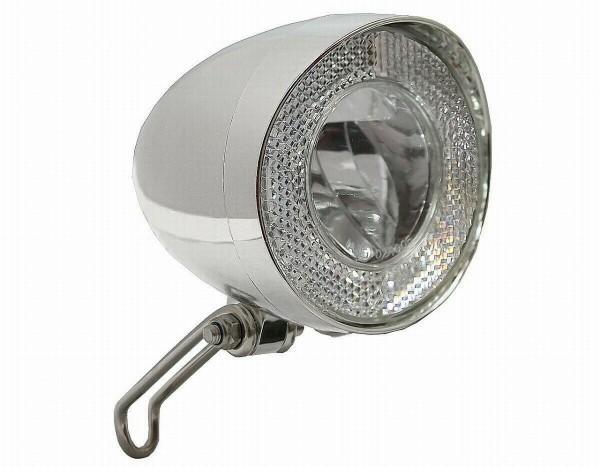 01241 LED Scheinwerfer Klassik, 40 Lux, Schalter/ Sensor/ Standlicht, Led, verchromt, Marwi