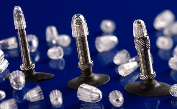 21137 Staubkappe, passend für Dunlop-/ Blitz-Ventile, transparent, Schwalbe