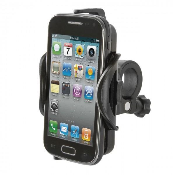 16760 Smart-Phone/ I-Phone Halter, für fast alle gängigen Smart-Phones, 360° drehbar, schwarz
