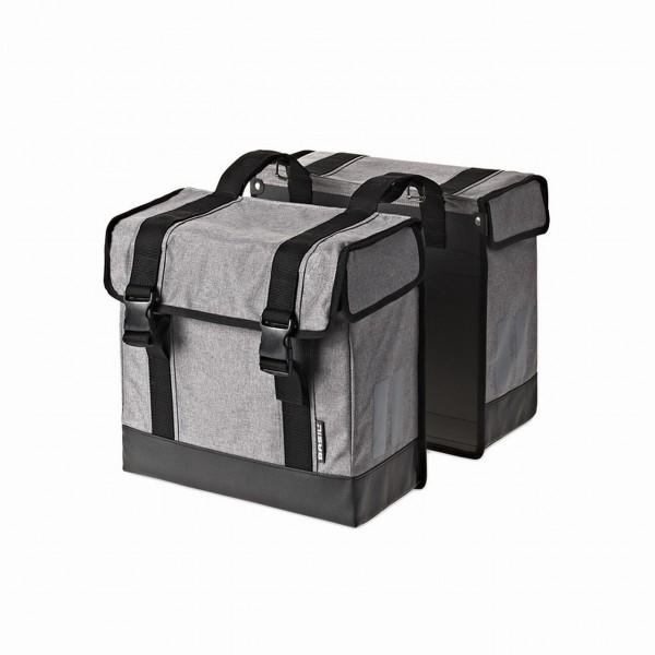 13250 Doppelpacktasche ROUTE, wasserabweisend, Reflexstreifen, 45 Liter, grau-meliert