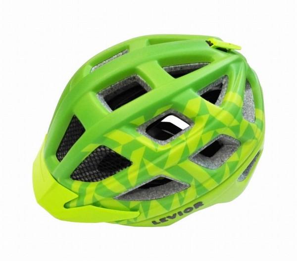 33930 Kinder Jugend Fahrradhelm Kailu, Größe M (53-59 cm), Reflektor, Quicksafe, Visier, green matt
