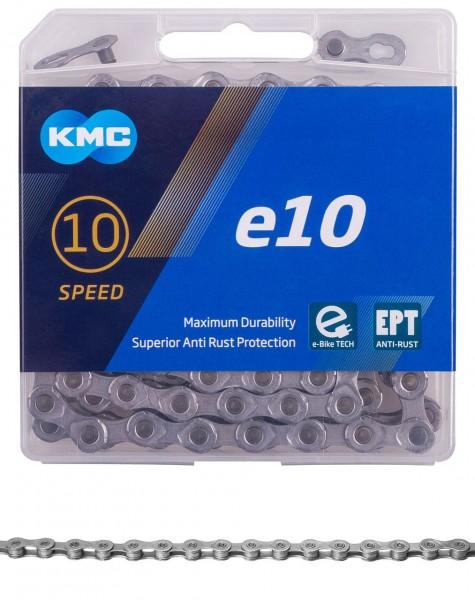 10149 Fahrradkette e10 EPT, KMC, 1/2 x 11/128, 136 Glieder, 10-fach, silber, E-Bike-Kette