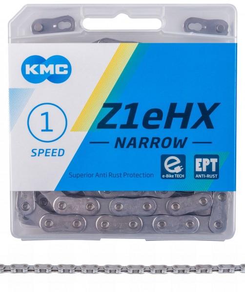"10113 Fahrradkette KMC Z1 eHX Narrow EPT (Anti Rost), 1/2"" x 3/32"", 128 Gl., 1 Gg., für E-BIKES, EK"