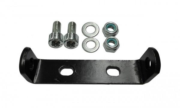 06356 Befestigungs-Adapter für Gepäckträger, Befestigung an Pletscherplatte, schwarz