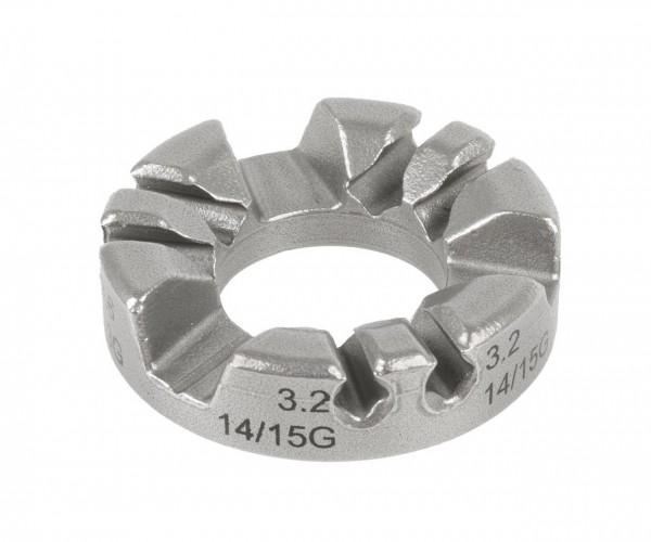 32232 Speichen- / Nippelspanner, CN-Spoke, Ausführung für verschiedene Nippelgrößen, 12-13-14-15 G