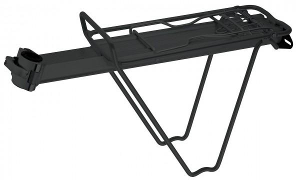 06237 Sattelstütz-Gepäckträger, Ø 25.4 - 31.8 mm, Alu, schwarz, Befestigung an Sattelstütze