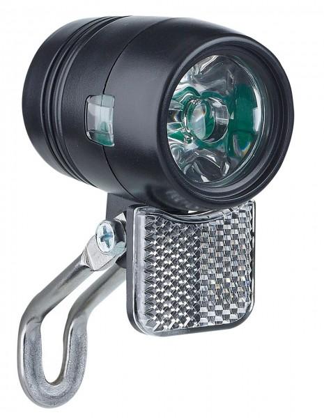 01222 Scheinwerfer, E-Bike 6-48 V, Sport ECO, 20 Lux, LED, Halter, Reflektor, schwarz