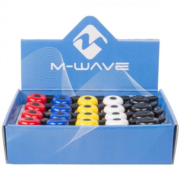 07308 M-WAVE Bella Mini-Mix, Mini-Fahrradglocke, 35 mm, farbig sortiert