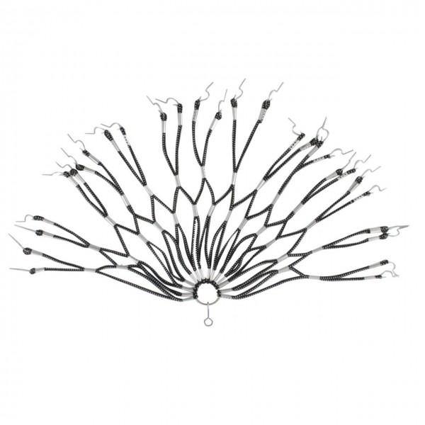 18140 Kleiderschutz/ Spiralgummiwabennetz, doppelt geklammert, schwarz