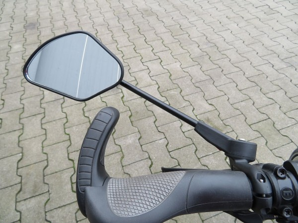 16652 KF Sport, klappbarer Fahrradspiegel, links/ rechts, große Spiegelfläche, schwarz