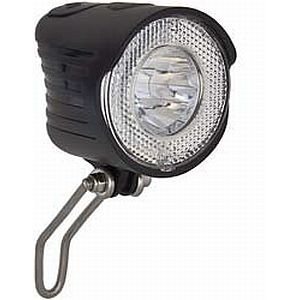 01414 LED Scheinwerfer, City-Batterie, 20 Lux, Edelstahlhalter, incl. Batterien