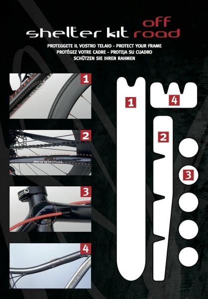 00160 Rahmenschutzfolien-Set, Shelter-Kit, transparent & viskoelastisch, vorgestanzte Elemente
