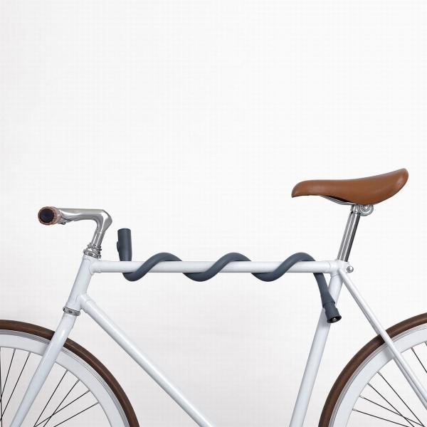 Lochness Fahrradschloss, von Palomar, Länge 825 mm, Ø 20 mm, Multi-Shape, Lack schonend, grau und an