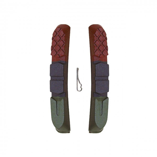 03391 austauschbare Bremsgummis, für V-Brake, 3-farbig, paarweise