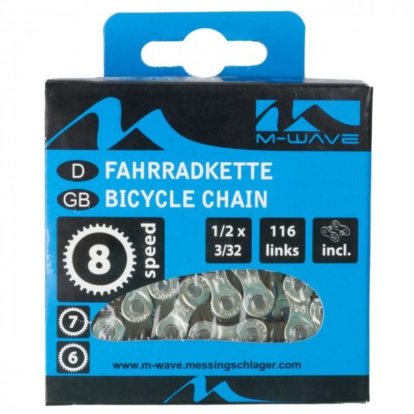 10130 Fahrradkette 1/2 x 3/32, 116 Glieder, 6/7/8-fach, silber-braun