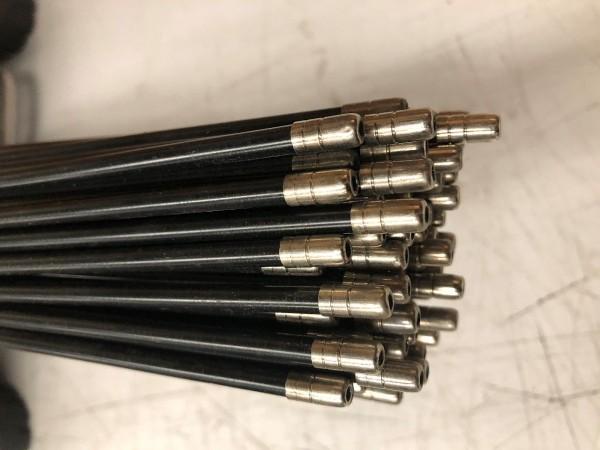 373343 Außenhülle Bremse Ø 5 mm, Länge cirka 68 cm, schwarz, mit Endhülse