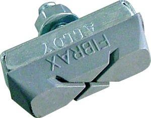 03420 Bremsschuhe ASH 296, Fibrax, Stück, für Alu-Felgen, grau