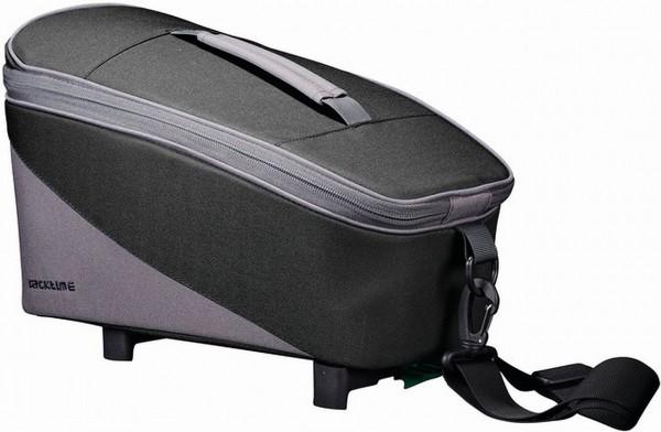 13600 Gepäckträgertasche RT TALIS, Snap-IT-Adapter, Reflektorstreifen, 8 L, Black-Grey