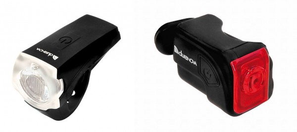 01425 Beleuchtungs-Set 20 Lux, Front + Rear, intgr. Akku`s, USB